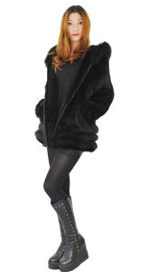 Women′s Fashion Hooded Fur OEM Order 005 pictures & photos