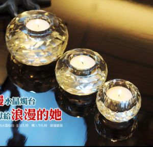 Ball Shape Tea Light Crystal Candle Holder for Home Goods pictures & photos