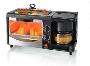 3 in 1 Breakfast Machine Coffee Maker. Toaster Oven. Fry Pan