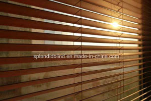 50mm Horizental Basswood Ladder Tpae Wood Blinds (SGD-W-508) pictures & photos