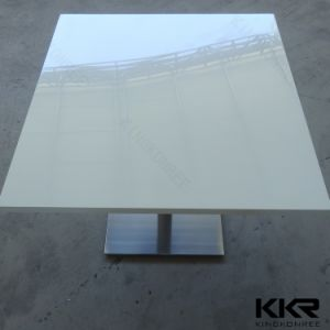China Hot Table Acrylic Solid Surface Round Coffee Table pictures & photos