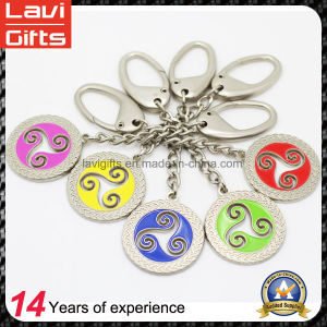 Fashion Custom Colorful Round Keychain Wholesale pictures & photos