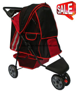 New Design Pet Products 3-Wheels Pet Stroller Bb-PS02 pictures & photos