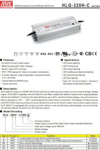 Meanwell 320W Constant Current LED Driver HLG-320H-C1050 pictures & photos