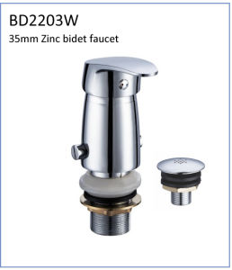 Bd2203W 35mm Zinc Single Lever Bidet Faucet for South American pictures & photos