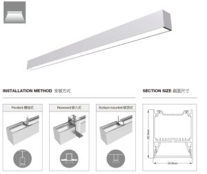6050 LED Linear Pendant Light LED Aluminum Profile LED Light pictures & photos