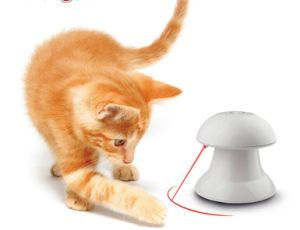 Laser Funny Cat Toy Electric Cat Toy Disc Type 360 Degree Radium Spot Infrared Pet Products pictures & photos