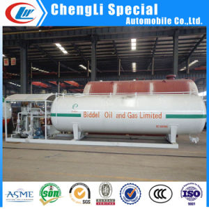 10tons LPG Skid Tank Mounted Filling Station 20cbm with Double Nozzle Dispenser pictures & photos