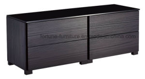 Modern Wooden Black Color Chest of 4 Drawers (N20120N)