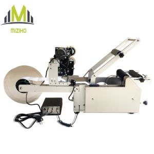 Semi Automatic Round Bottle Labeling Machine with Printer pictures & photos