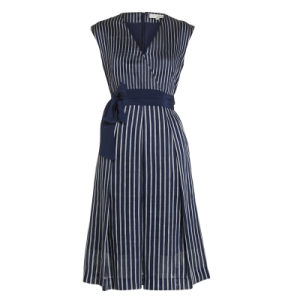 Signature Stripe Fit and Flare Dress pictures & photos