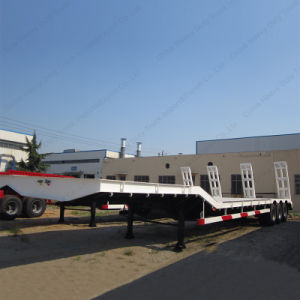 Manufacture Low Bed Semi-Trailer Ailer Used for Transporting Heavy Equipment