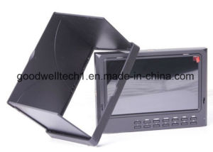 "7"" High Resolution on Camera Field Monitor 1024x600, Plastic Sunshade Cover + Peaking Filter pictures & photos"