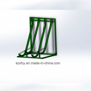 Hot Dipped Galvanized Semi Vertical Bike Rack for Parking 4 Bikes pictures & photos