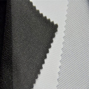 Woven Tricot Interlining Fabric of Pure Cotton Warp Knitted Elastic pictures & photos