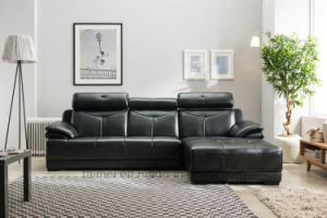 European Modern L Shape Sectional Leather Sofa (with headrest) pictures & photos