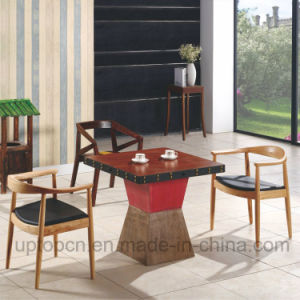 Chinese Wooden Restaurant Furniture Set with Kennedy Chair and Square Table (SP-CT700) pictures & photos