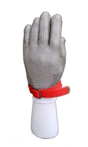 Chain Mail Protective Cut Resistant Work Glove with Nylon Buckle-2372 pictures & photos