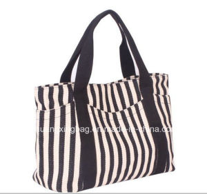 20176 New Design Black and White Stripe Wholesale Baby Diaper Bag with Multi Function
