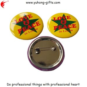 Different Size Round Custom Made Tin Badge Pin (YH-TB011) pictures & photos