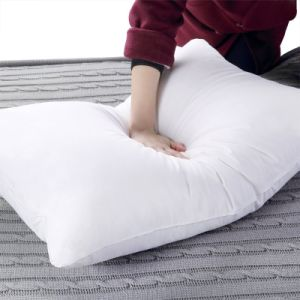 Cotton Fabric Goose Feather Filled Adult Sleeping Pillow pictures & photos