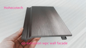 WPC Co-Extrusion Wall Panel Outdoor Wood Plastic Composite Wall Cladding Exterior Decorative Building Facades pictures & photos