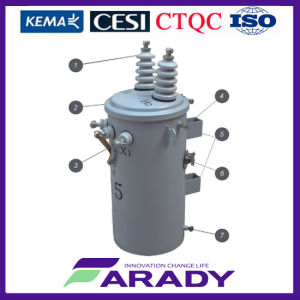 33kv 200kVA 400kVA 500kVA on Sale Oil Type Pole Mounted Electrical Power Transformer pictures & photos