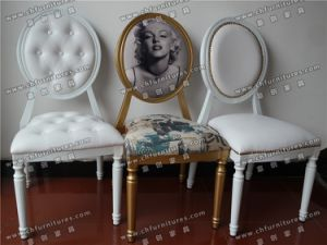 Antique Walnut Color Imitation Wood Louis Xv Style Chair in Europe and USA (YC-A84) pictures & photos