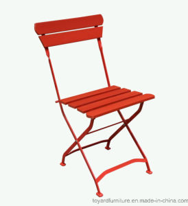 New Colorful Best Popular Outdoor Garden Furniture Plastic Wood Metal Folding Restaurant Chair pictures & photos