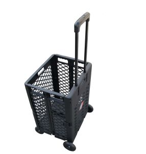 Extra Capacity Plastic Folding Shopping Cart (FC404C) pictures & photos