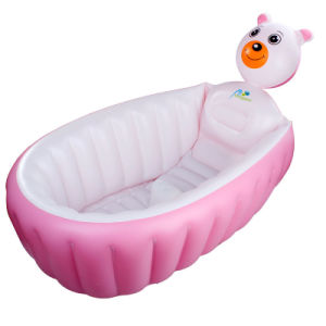 Pink Color PVC Inflatable Bath Tubs and Seats for Girl pictures & photos