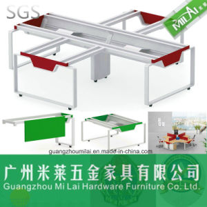 Hot Wholesale Office Furniture Desk Frame for 4 Person pictures & photos
