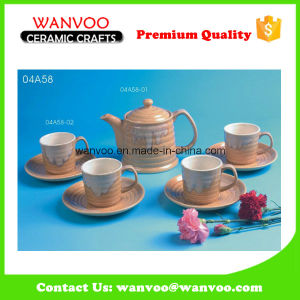 4PCS Ceramic Tea Coffee Set of Cup and Saucer pictures & photos