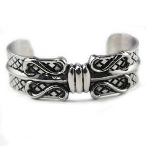 Most Popular Excellent Quality China Sale Retro Bangles with Stainless Steel Bracelet pictures & photos
