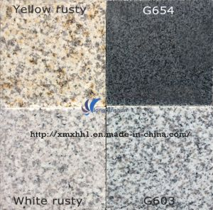 G603/G654/G664/Rusty Yellow White Grey Black Granite/Marble Kitchen Counter Tops pictures & photos