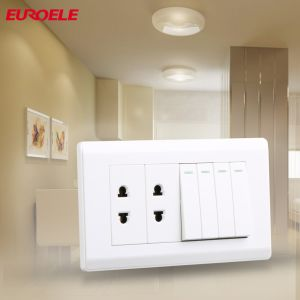 Pakistan Series PC White 6+2 Wall Switch and Socket pictures & photos