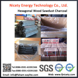 Machine Made Hexagonal Hardwood Sawdust Barbecue Charcoal pictures & photos
