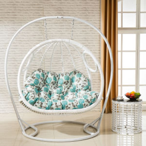 Double Seat Swing Wicker Egg Chair Living Room Swing Chair Luxury Outdoor Furniture (D155) pictures & photos