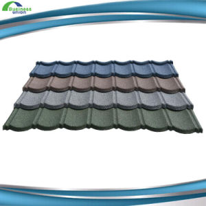 Spanish Style Stone Color Coated Metal Roof Tile pictures & photos