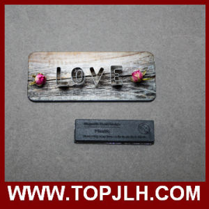 Custom Name Print MDF Wooden Magnetic Name Tag