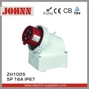 IP67 5p 16A Surface Mounted Good Quality Plug for Industrial pictures & photos