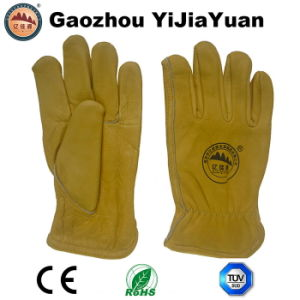 Industrial Leather Labor Driving Gloves for Drivers pictures & photos