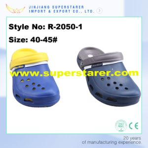 Customized Fashion Holey Men EVA Clogs, Durable Fashion EVA Clogs with Two Layer Colors pictures & photos