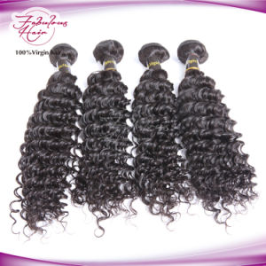 Thick Ends Human Hair Deep Curl 12inch-30 Inch Mongolian Virgin Hair pictures & photos
