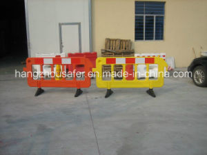 Plastic Road Traffic Barrier with 360 Degree Rubber Base (S-1644B) pictures & photos