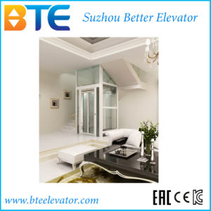 Ce Mrl Vvvf Glass Wall Home Elevator with Steel Structure