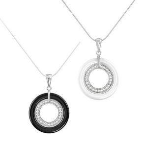925 Sterling Silver Ceramic Pendant Necklace P20013 pictures & photos