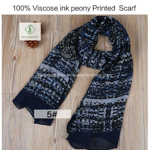 2017 Newest Fashion Lady Viscose Scarf with Flower Printed Shawl pictures & photos