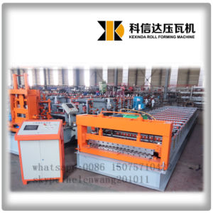 Color Corrugated Roofing Sheet Machine pictures & photos