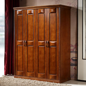 Bedroom Furniture Solid Wooden Wardrobe Armoire Cabinet (GSP9-016) pictures & photos